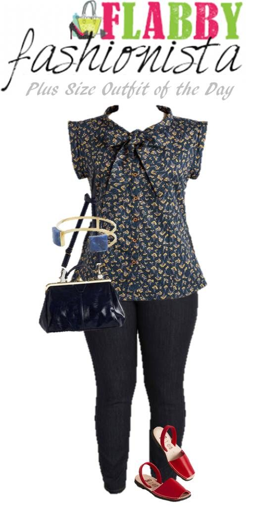 Plus Size Outfit of the Day – Navy and Red #OOTD