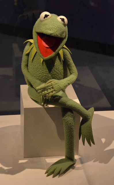 Kermit the Frog.....it's not easy being green