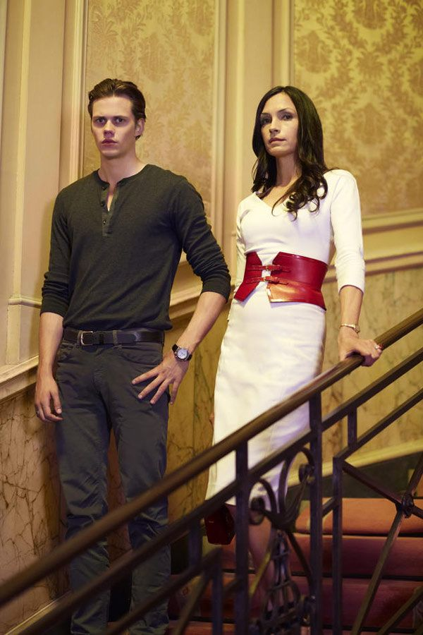 Famke Janssen (Olivia Godfrey) and Bill Skarsgård (Roman Godfrey) Hemlock Grove