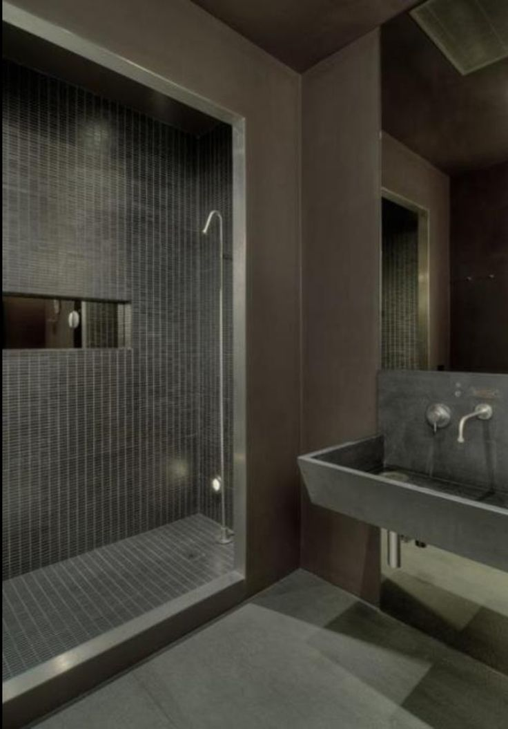 Matt Grey Modern Masculine Bathroom