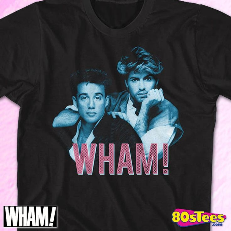 Wham T-Shirt by American Classics in collections: Music: Wham, Department: Adult Mens, Color: Black