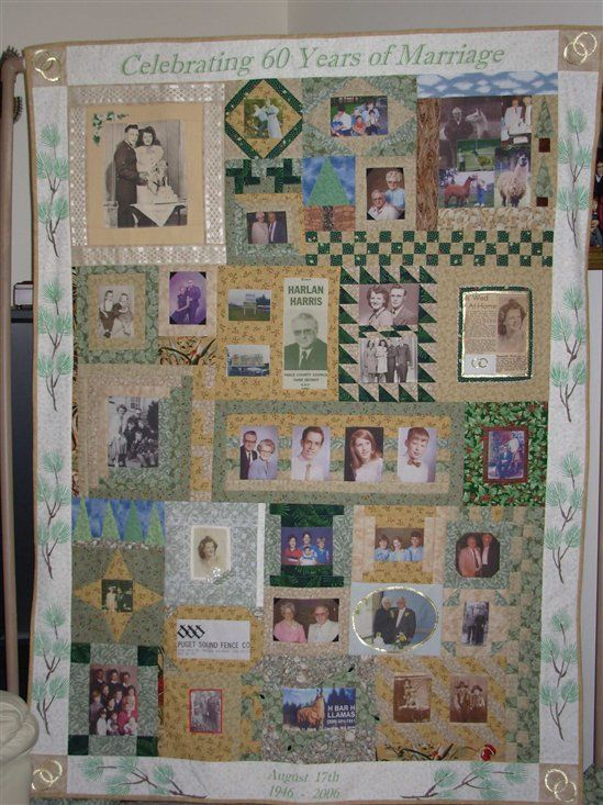 """""""60th Anniversary Quilt"""" by Mom - Show & Tell - Quilters Club of America"""