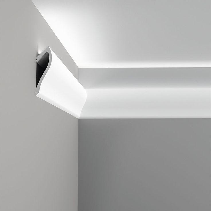 indirect wall lighting. C371 Ulf Moritz, Moulding For Indirect Lighting, Primed White. Length: 78- Wall Lighting