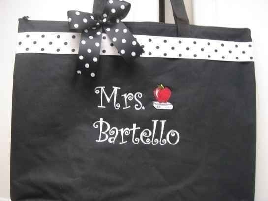 Teacher Tote Bag personalized GIFT 4 special by memoriescollection, $20.99