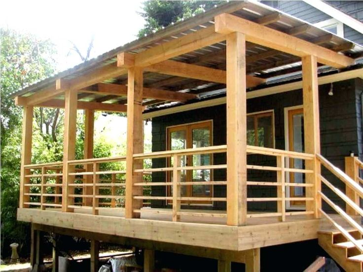 Simple Back Porch Ideas Front Porch Ideas For Mobile Homes Basic ...