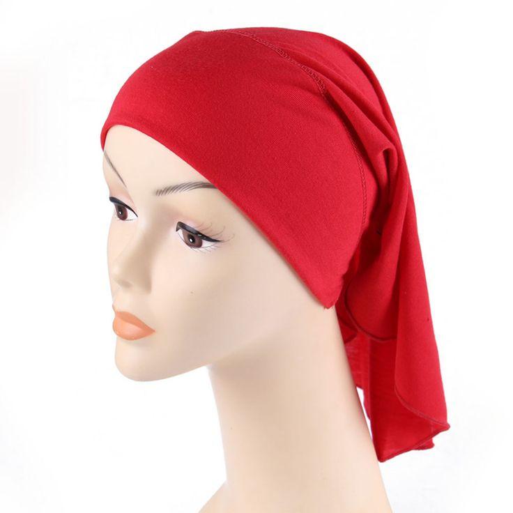 2017 fashion muslim scarf women New Headband Cotton  Hijab Inner Scarf  Ninja Islamic Head Cover Muslim scarf Caps brand scarf