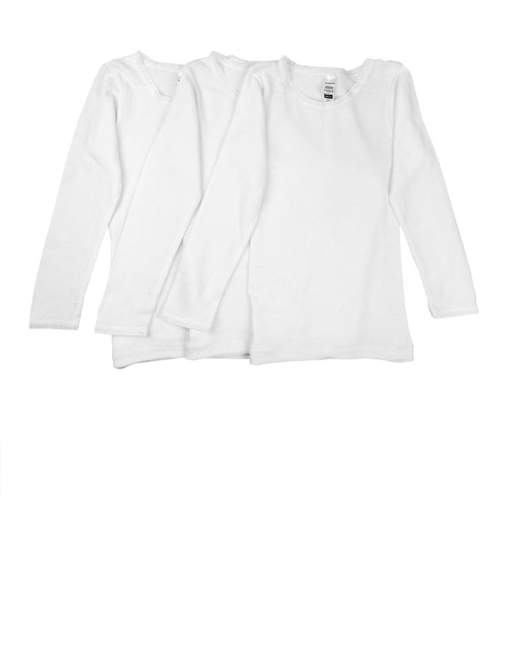 3-pack Cotton Long Sleeved Spencers