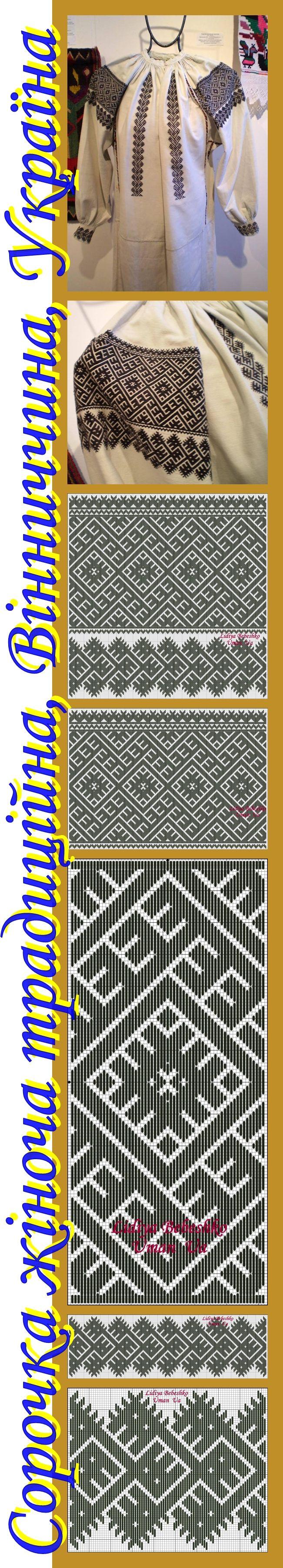 Вишивка на жіночій сорочці (Вінниччина, Східне Поділля) з колекції родини Причепіїв, подарованої Музею Івана Гончара