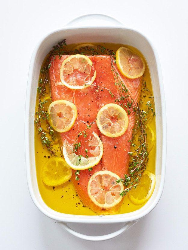 Slow Roasted Salmon with Lemon