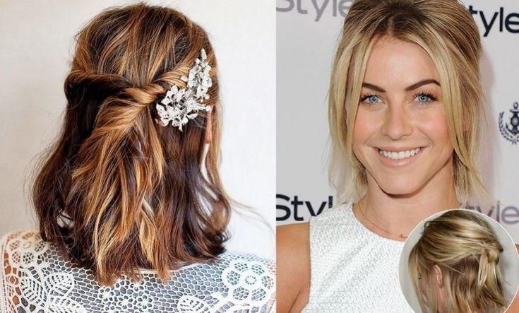 Semi recogidos sencillos para cabello corto http www - Ideas para peinados faciles ...
