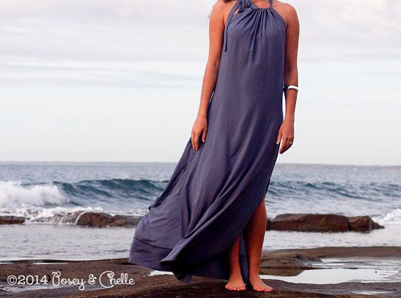 Summer Maxi Dress Available In Black White And Gray