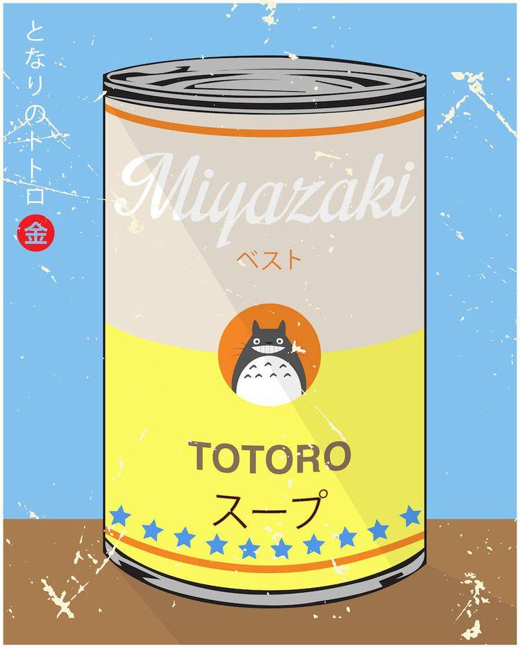 Le designer Hyo Taek Kim, dont nous avons déjà parlé sur Fubiz, continue de revisiter les codes de la pop-culture. Dans sa Special Soup Series, il remanie les films animés de Hayao Miyazaki, qui ont bercé son enfance, à la sauce Andy Warhol : les 10 films réalisés par Miyazaki sont représentés sur les boîtes de conserve de Warhol.