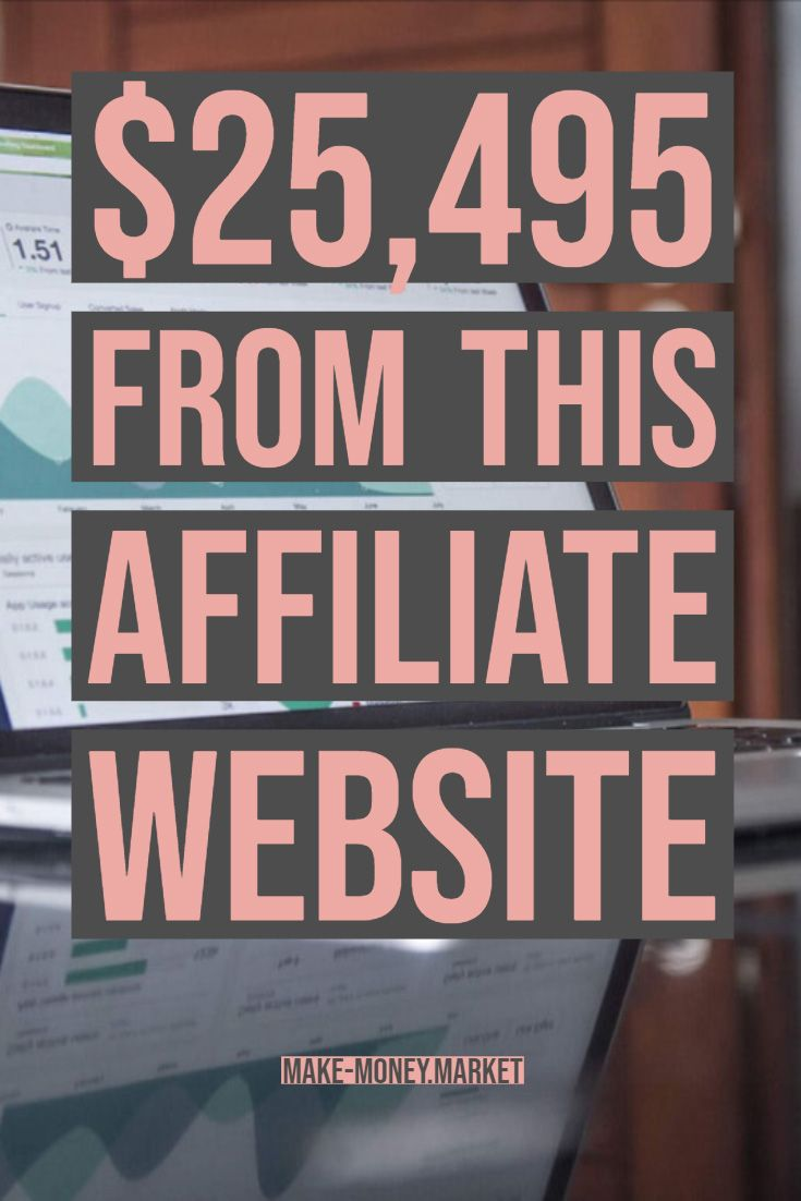 $25,495 From This Affiliate Website