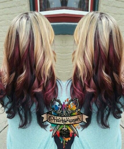 Groovy 1000 Ideas About Burgundy Blonde Hair On Pinterest Makeover Hairstyle Inspiration Daily Dogsangcom