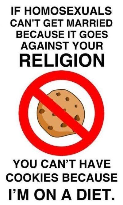 Wenn gleichgeschlechtliche Ehe gegen deine Religion ist …