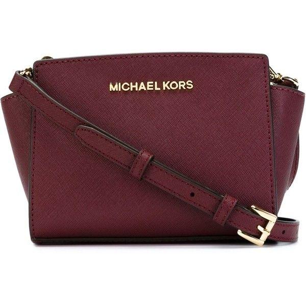 Michael Michael Kors Selma Cross Body Bag ($170) ❤ liked on Polyvore featuring bags, handbags, shoulder bags, red, crossbody purse, leather handbags, leather purse, red crossbody and red leather handbag