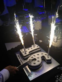 My son's sweet 16th Black and White Birthday party