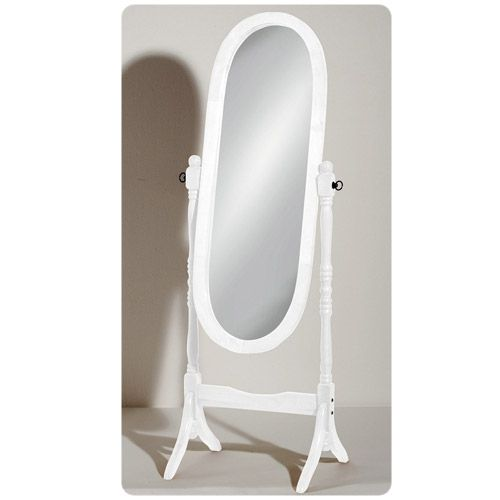 Give your bathroom a striking look with the White Wooden Freestanding Full Length Cheval Mirror. Can be adjusted. Now at Victorian Plumbing.co.uk.
