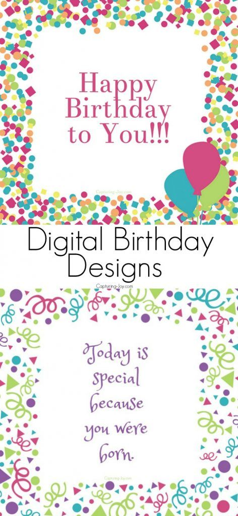 These Digital Birthday Card Designs are so much fun to share with your friends. Come learn all about this year's Birthday Week Celebration - Capturing Joy with Kristen Duke