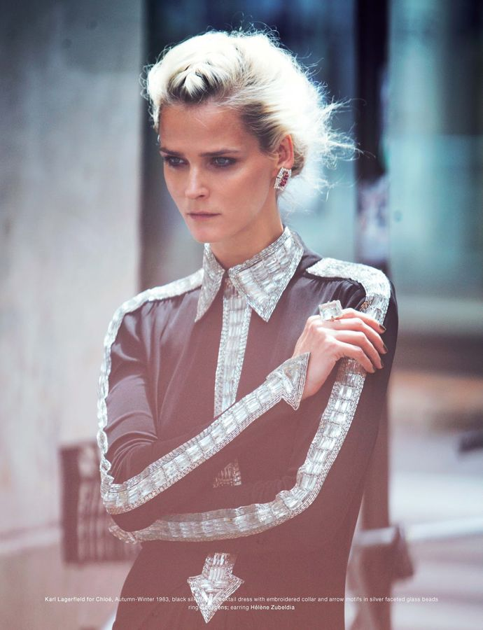 Carmen Kass goes vintage with Chloé ~ BOUGEOTTE