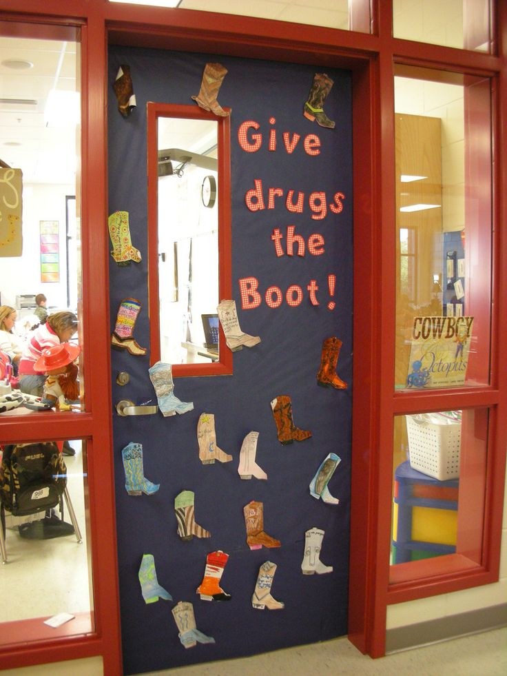Door Decorations for Red Ribbon Week | Give drugs the Boot! | Judy Baxter | Flickr