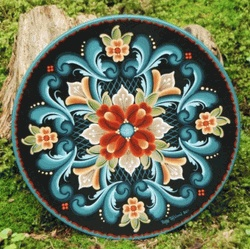 Patty Tofsland from Stoughton Wisconsin- Rosemaling