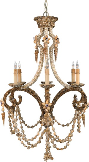 Seashell Chandelier For Only 1450 Wonder How Much A Few Bags Of Strung Shells Would