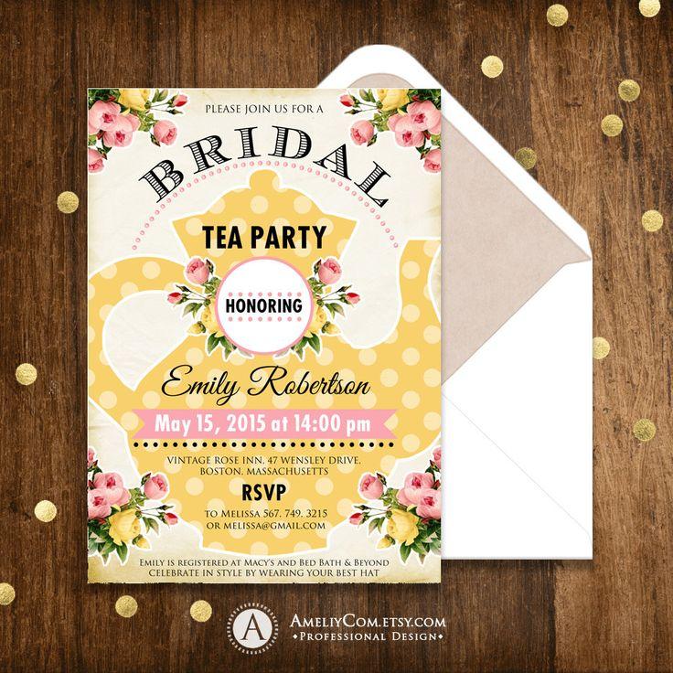 The 25+ best Bridal tea invitations ideas on Pinterest | Tea party ...
