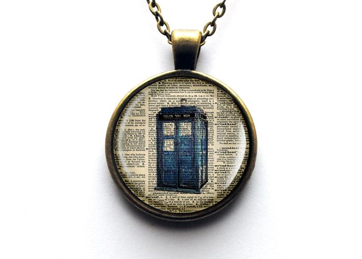 Dr Who Tardis Dictionary Page Glass Dome by resinapocalypse, $14.00
