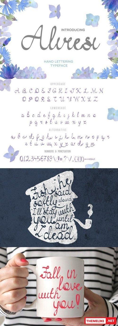 Creativemarket Aliresi Script Fonts 589848 All