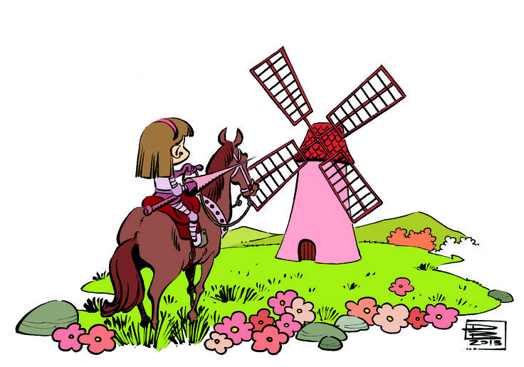 Liz Dom Quixote.