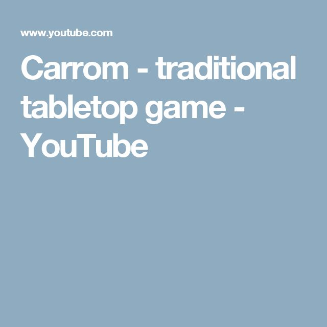 Carrom - traditional tabletop game - YouTube