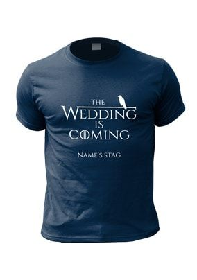 c51cebd2 The Wedding Is Coming Personalised Stag T-shirt | Stag party | Stag ...