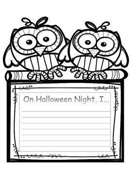 """FREE For students to use as """"bell work"""" or creative writing to tell what they did on Halloween night (could be fiction or non-fiction)."""