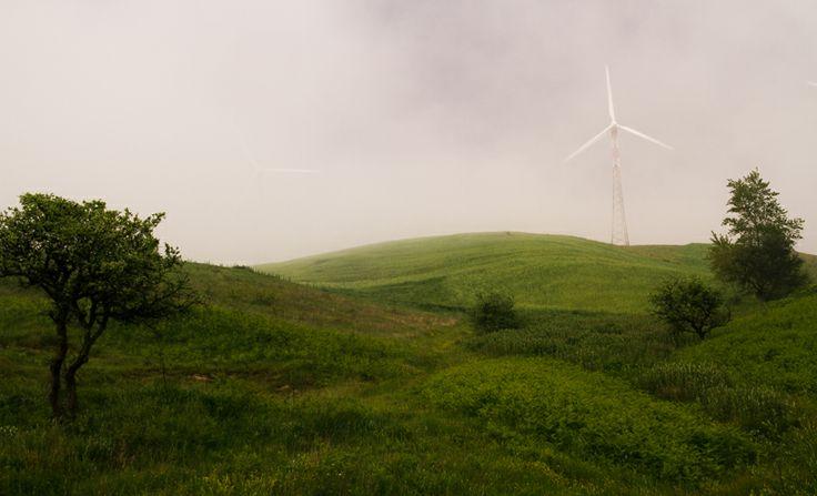 Parco eolico nei pressi di Baselice (BN)