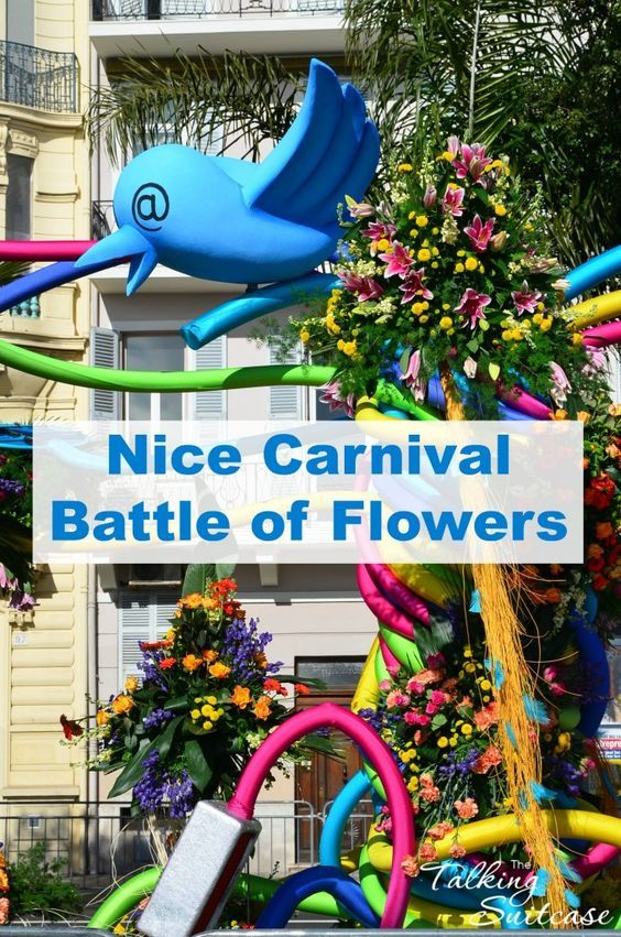 5 Reasons not to miss the Nice Carnival Battle of Flowers in France along the Côte d'Azur - Confetti, streamers & the fragrance from of flowers swirl through the crowd for Nice Carnival Battle of Flowers-Carnaval de Nice Bataille de Fleurs.