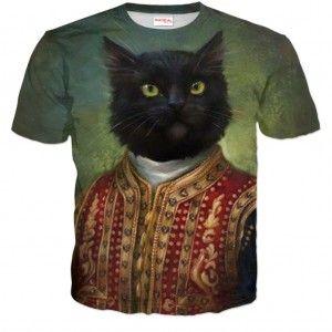 KOT MAJESTATYCZNY Koszulka Tshirt Full Print