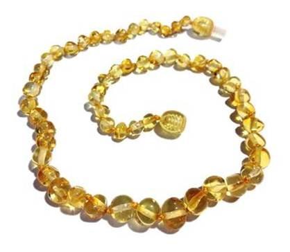 Genuine Baltic Amber Teething Necklace - Lemon Honey