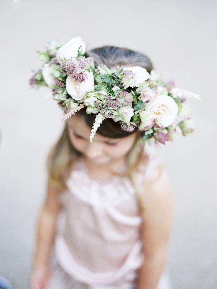 white and lavender flower crown Photography: Polly Alexandre - alexandreweddings.com, Florals by http://www.jamieaston.com/