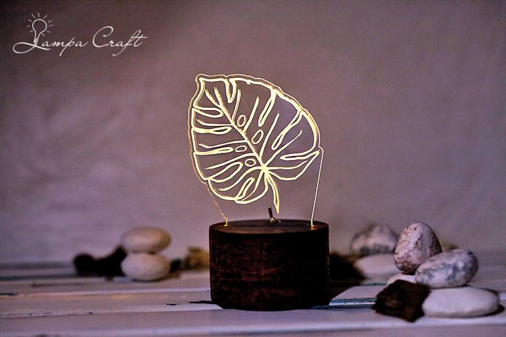 """Светильник """"Лист"""".  Простой лаконичный дизайн впишется в любое пространство.Работает от 2-х батареек АА, входят в комплект. Свечение-теплый белый (по вашему желанию можно сделать цветное свечение: синий, холодный белый, желтый, розовый, зеленый) Цвет подставки-темное дерево/ Мокко/ http://www.lampacraft.ru/houm_lampa #именнойсветильник #ночник #ночникиздерева #домашнийдекор #декориздерева #светодиодныйсветильник #ручнаяработа"""