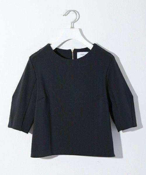 STUDIOUS WOMEN(ステュディオス ウィメンズ)のSTUDIOUS ジャージーバックジッププルオーバー*(Tシャツ/カットソー)|ブラック