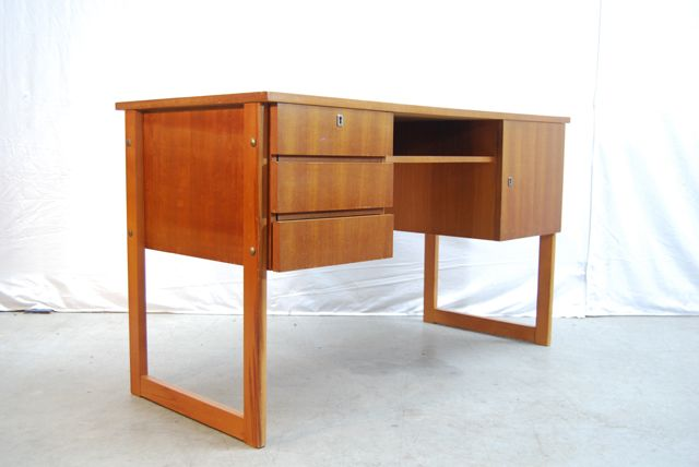Modern jaren 60 teak fineer design for Ladeblok teak