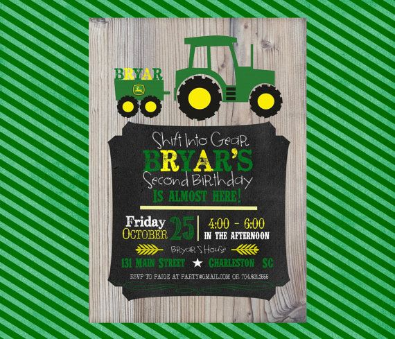 Best 25 Tractor birthday invitations ideas on Pinterest Tractor