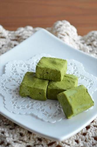 バレンタインに♪材料3つで超簡単!レンジで作る 抹茶 生チョコ ★ - 四万十住人の 簡単料理ブログ!