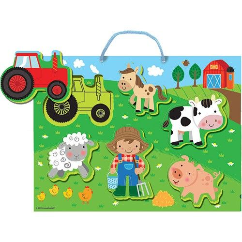 Soft Shapes - Busy Little Farm Puzzle.  The fun never ends with a farmer and his friends! A soft foam puzzle turns bath time into a fun farm adventure with chunky pop-out pieces that stick to the sides of the tub and stand up for hours of imaginative play.  A floating tray provides permanent storage for a pig, cow, horse, sheep, farmer and tractor. $19 at Kids Toys to You - www.kidstoystoyou.com.au