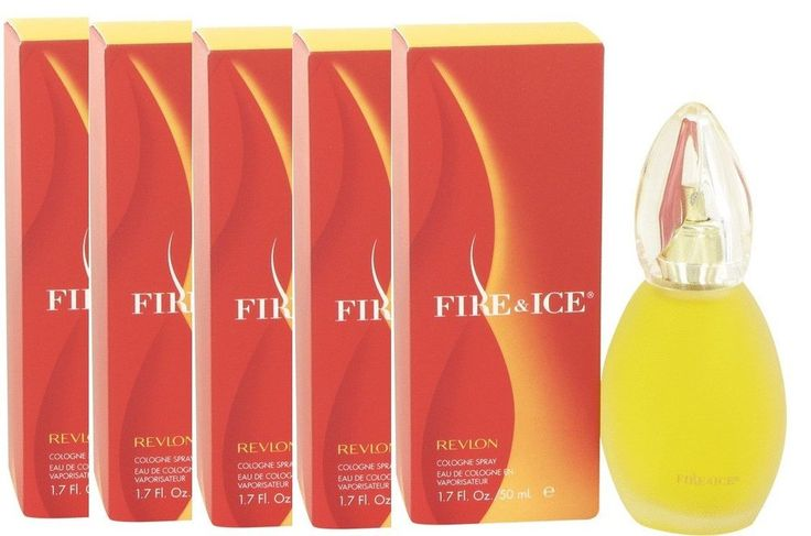 5 x FIRE AND & ICE by Revlon 1.7 Women's Cologne EDC Perfume NIB - LOT #Revlon
