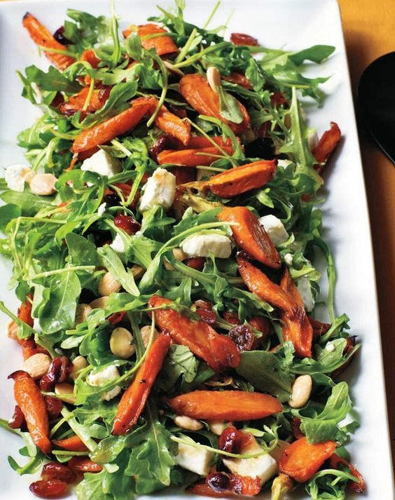 Maple roasted carrot salad. Get the recipe here.