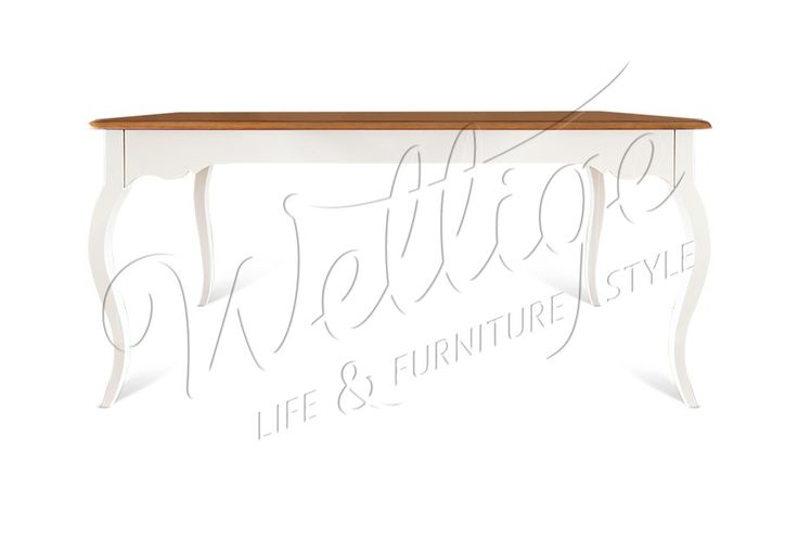 Обеденный стол Шенонсо, 160 х 90 см. Массив ольхи, стиль Прованс, гостиная. Варианты крашения на выбор.