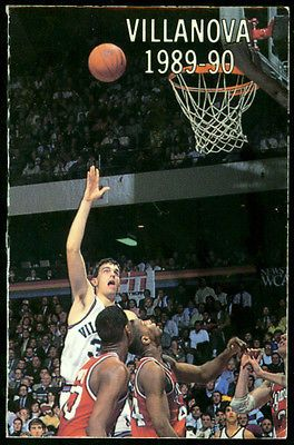 1989 90 Villanova Wildcats Mens Basketball Pocket Schedule Free SHIP | eBay