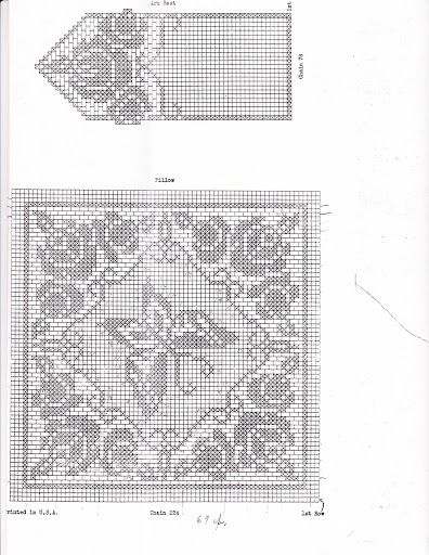 Filet Crochet Pillow and Chair Set by Alice Brooks No. 5913 - diamondinapril - Picasa Web Albümleri